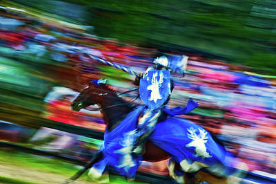 Historical Reenactments Photograph - Knight With Armor Riding A Horse by Panoramic Images
