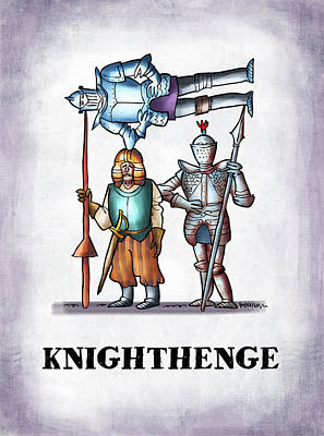 Don Quixote Digital Art - Knighthenge by Mark Armstrong