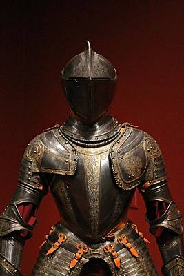 Photograph - Knights Armor by Michael Saunders