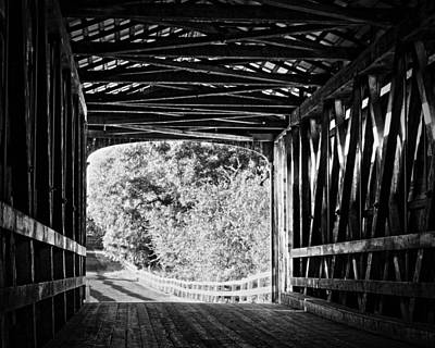 Lodes Photograph - Knights Ferry Covered Bridge by Troy Montemayor