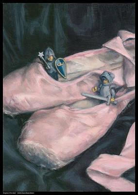 Knights In Pink Satin Art Print