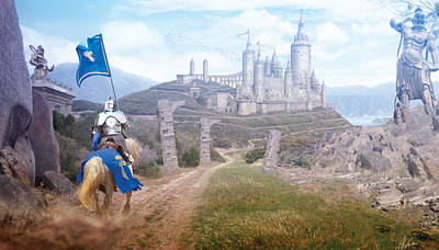Digital Art - Knights Journey by Anthony Christou