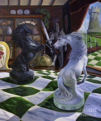 Animals Paintings - Knights Magic by Jeanne Newton Schoborg