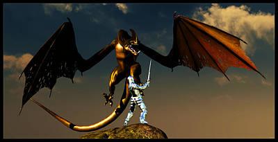 Digital Art - Knightslayer... by Tim Fillingim