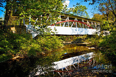Photograph - Knisely's Covered Bridge by Ronald Lutz