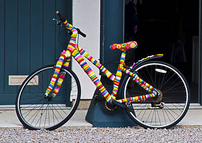 Bright Photograph - Knitted Bicycle by Paul Howarth