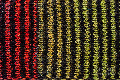 Photograph - Knitted Striped Scarf by Les Palenik