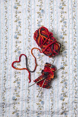 Knitted With Love Art Print by Joana Kruse