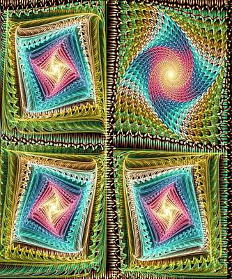 Homemade Quilts Digital Art - Knitting by Anastasiya Malakhova