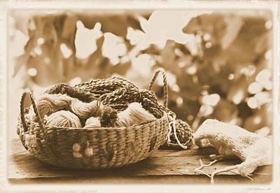 Photograph - Knitting Basket by Sheri McLeroy