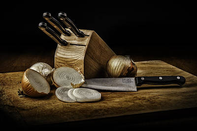 Photograph - Knives And Onions by PhotoWorks By Don Hoekwater