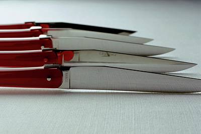Balance In Life Photograph - Knives by Romulo Yanes