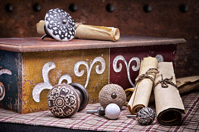 Wood Box Photograph - Knobs And Such Still Life by Tom Mc Nemar