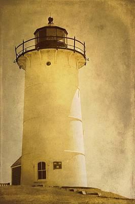 Knobska Point Light Lighthouse Woods Hole Ma Art Print by Suzanne Powers