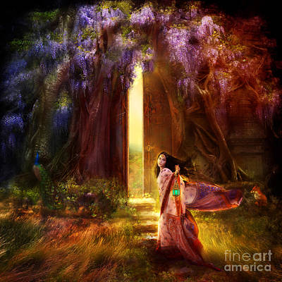 Knock At The Door Art Print by Aimee Stewart