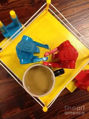 Knock M Sock M Cafe Au Lait Original by Michael Hoard