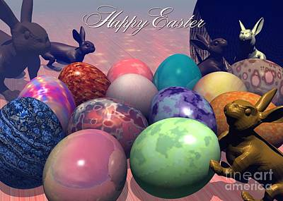 Digital Art - Knocked Over Easter by JH Designs