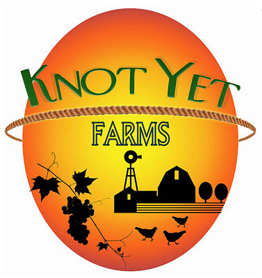 Digital Art - Knot Yet Farms Logo 1 by Ric Bascobert