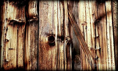 Knotty Wood Grain Art Print