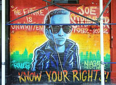 Joe Strummer Photograph - Know Your Rights by Allen Beatty