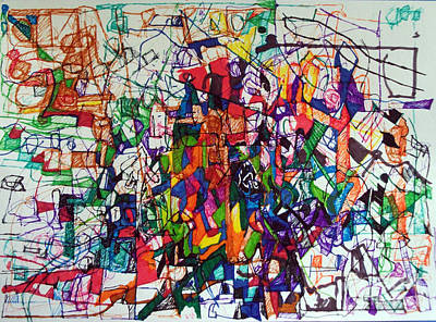 Conceptual Abstraction Drawing - Knowing More Than Before 2 by David Baruch Wolk