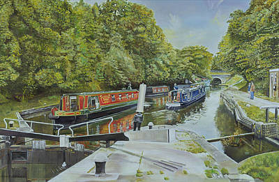 Knowle Top Lock, 2003 Oil On Canvas Art Print by Kevin Parrish
