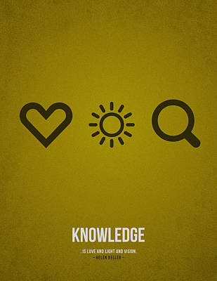 Knowledge Art Print by Aged Pixel