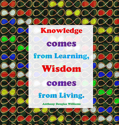 Champion Mixed Media - Knowledge Wisdom Quote Learn Live Art Background Designs  And Color Tones N Color Shades Available F by Navin Joshi