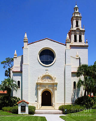 Photograph - Knowles Memorial Chapel Rollins College 3 By Diana Sainz by Diana Raquel Sainz