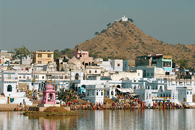 Known As The 'city Of Temples', Pushkar Print by David Noyes