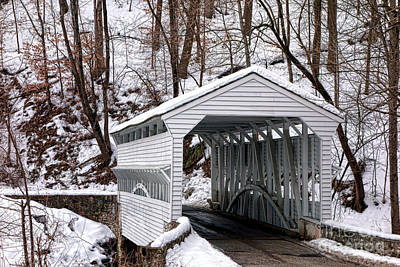 Knox Covered Bridge Art Print by Olivier Le Queinec