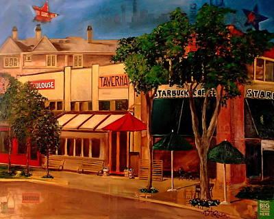 Dallas Mavericks Painting - Knox Street I by Katrina Rasmussen