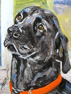 Labrador Retreiver Painting - Knox by Susan E Jones