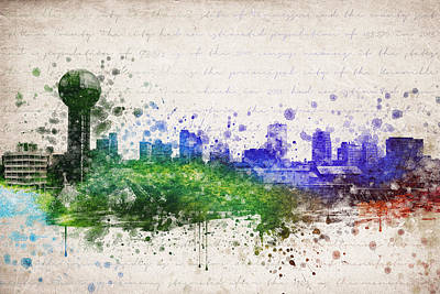 Skylines Mixed Media - Knoxville in Color by Aged Pixel