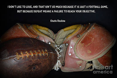 Knute Rockne On Football Art Print by Paul Ward
