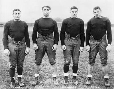 Indiana Photograph - Knute Rockne's Backfield by Underwood Archives