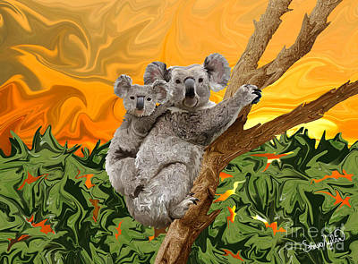 Koala Bear Sunset Art Print