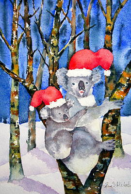 Koala Christmas Print by Eva Nichols