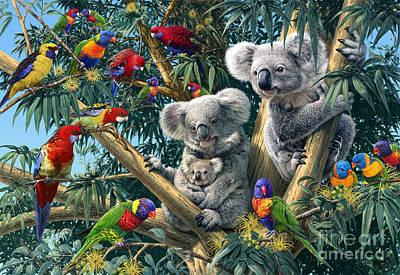 Parrot Digital Art - Koala Outback by Steve Read