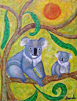 Koala Painting - Koala Sunrise by Sarah Loft