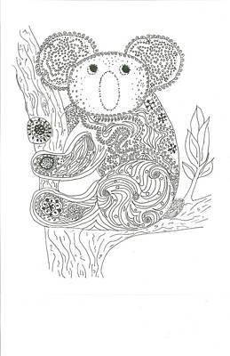 Marsupial Mixed Media - Koala Sweetness  by Heather  Stirnweis