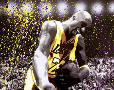 Lakers Painting - Kobe by Bobby Zeik