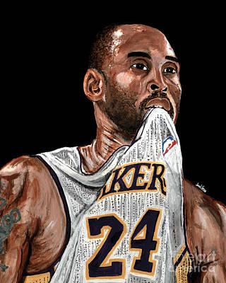 Kobe Bryant Biting Jersey Original by Israel Torres