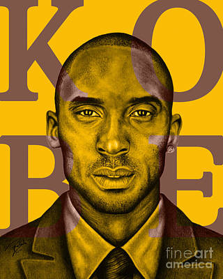 Kobe Bryant Lakers' Gold Art Print