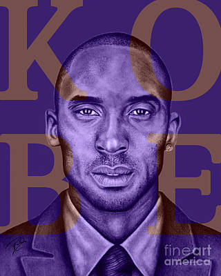 Kobe Bryant Lakers' Purple Art Print