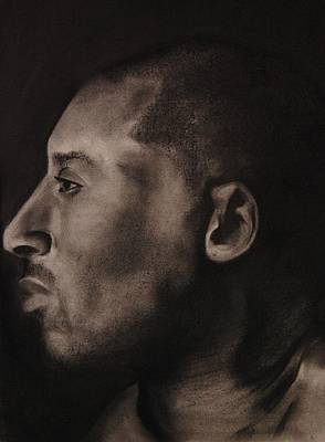Kobe Charcoal 1 Art Print by Cuca Montoya