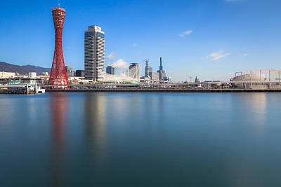 Kobe Port Island Tower Art Print by Hayato Matsumoto