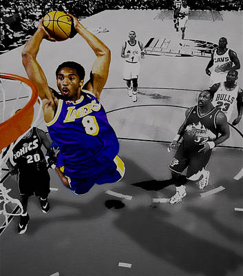 Magic Johnson Digital Art - Kobe Took Flight II by Brian Reaves