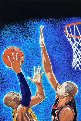 Kobe Painting - Kobe Vs Batum by Dino Murphy