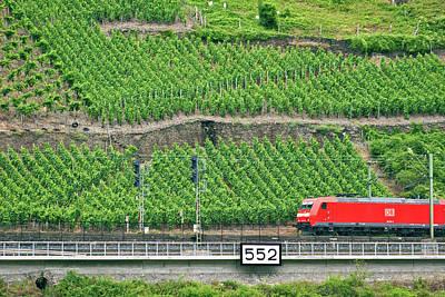 Koblenz, Germany, A High Speed Train Art Print